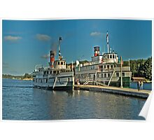 Muskoka Lake Cruise Ships Poster