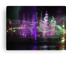 VIVID Darling Harbour Light Display Canvas Print