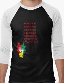 education t-shirt  Men's Baseball ¾ T-Shirt