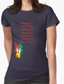 education t-shirt  Womens Fitted T-Shirt