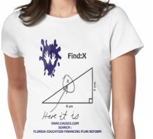 funny math t-shirt Womens Fitted T-Shirt