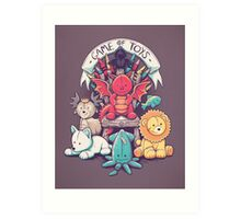 Game Of Toys Art Print