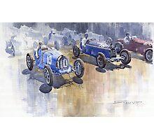 Bugatti 51 Alfa Romeo 8C 1933 Monaco GP Photographic Print