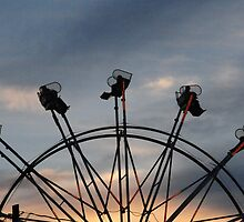 Ferris Wheel Ride Into The Sunset by Andy Colvin