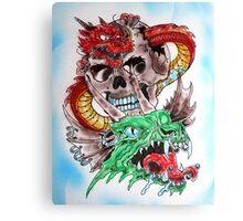 Skull Dragons Canvas Print