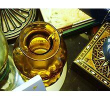 yellow vase-still life Photographic Print