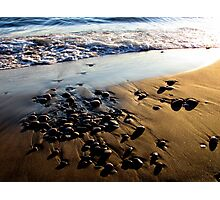 Lake Superior Rocks - Marathon Ontario Canada Photographic Print