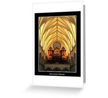 St. Joseph's Cathedral Choir Loft - Organ Pipes Greeting Card