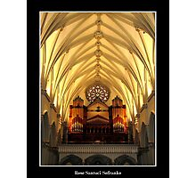 St. Joseph's Cathedral Choir Loft - Organ Pipes Photographic Print