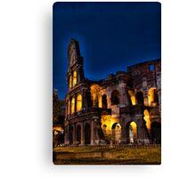 Rome Coloseum at night Canvas Print