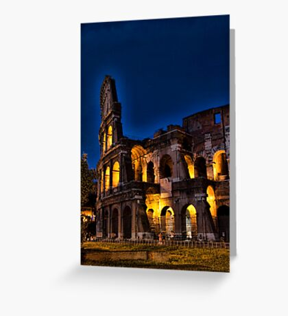 Rome Coloseum at night Greeting Card