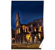Rome Coloseum at night Poster