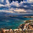 Beach scene in Crete by InterfaceImages