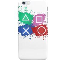 Playstation Button Splat Print iPhone Case/Skin