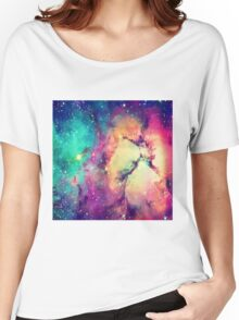 BrIght Colorful Galaxy Women's Relaxed Fit T-Shirt