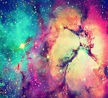 BrIght Colorful Galaxy by NancyAnnDesign