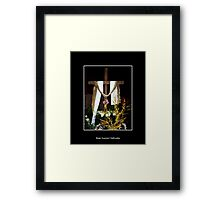 Easter - Empty Cross with sash Framed Print