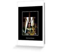 Easter - Empty Cross with sash Greeting Card