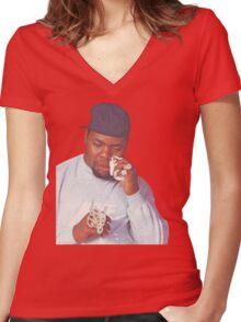 Biz Markie Women's Fitted V-Neck T-Shirt