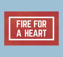 fire for a heart watercolour One Piece - Short Sleeve