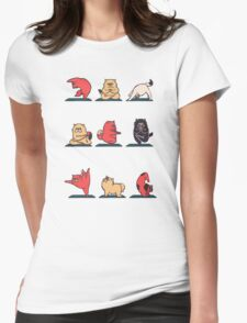 Cat Yoga Womens Fitted T-Shirt