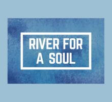 river for a soul watercolour Kids Tee