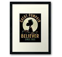 Great Pumpkin Believer Framed Print
