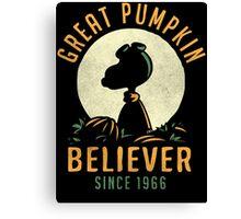 Great Pumpkin Believer Canvas Print