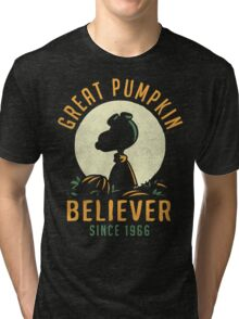 Great Pumpkin Believer Tri-blend T-Shirt