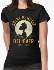 Great Pumpkin Believer Womens Fitted T-Shirt
