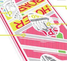 Hover Board Anatomy Sticker