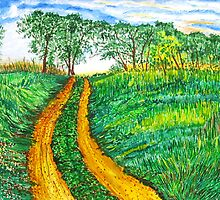 The Dirt Road-Homage to van Gogh. by Sesha