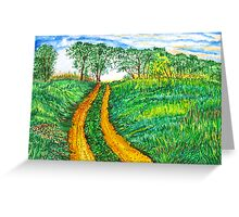 The Dirt Road-Homage to van Gogh. Greeting Card