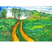 The Dirt Road-Homage to van Gogh. Photographic Print