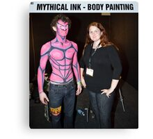 Body Painter - Mythical Ink Canvas Print