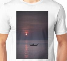 Rowing into sunset Unisex T-Shirt