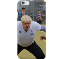 Boris Johnson playing rugby iPhone Case/Skin