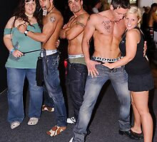 Male Strippers & Crowd by Andrew Holford
