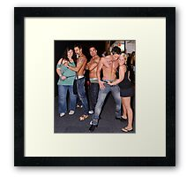 Male Strippers & Crowd Framed Print