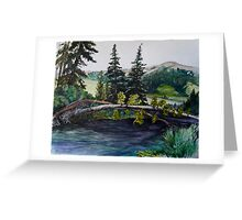 Blue River Camp Ground Greeting Card