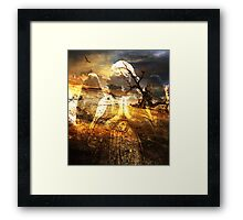 HOPE ~ EVEN AMONGST THE MOST BARREN OF PLACES Framed Print