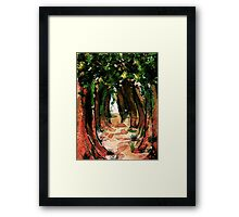 Electric Forest, watercolor Framed Print