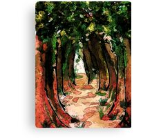 Electric Forest, watercolor Canvas Print