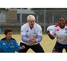 Boris Johnson playing rugby Photographic Print