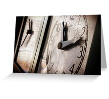 Time's Running out Greeting Card