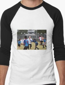 Boris Johnson playing rugby Men's Baseball ¾ T-Shirt
