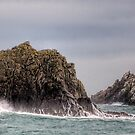 Waves Crashing on the Gannet Rocks by NeilAlderney