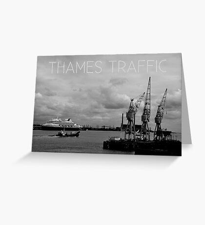 Thames Traffic Greeting Card