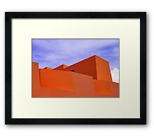The Orange Fort Framed Print