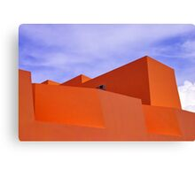 The Orange Fort Canvas Print